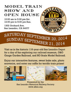 SLHRS September 2014 Open House & Train Show