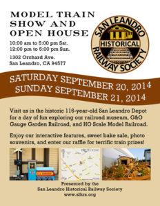 SLHRS September 2014 Open House & Train Show
