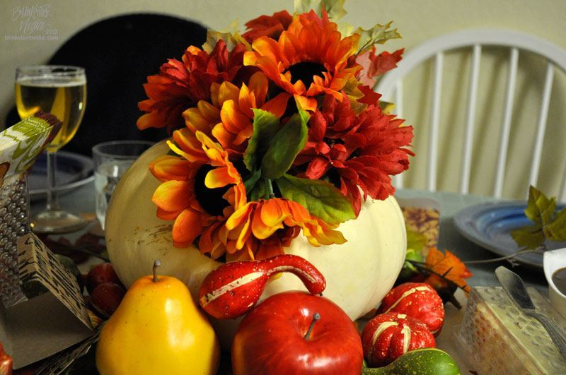 Wide Open Country Uses Thanksgiving Pumpkin Centerpiece Photo